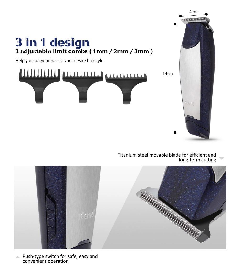 Selain pisau stainless steel Anda juga mendapat kepala sisir dari bahan  plastik yang berguna untuk cukur jenggot. f805aedb5e