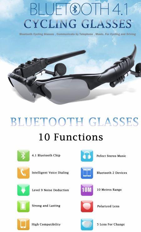 Kacamata ini berteknologi tinggi. Ada teknologi earphone bluetooth yang  memungkinkan Anda dapat mendengarkan musik atau berkomunikasi dengan  kacamata ini. b741a927af