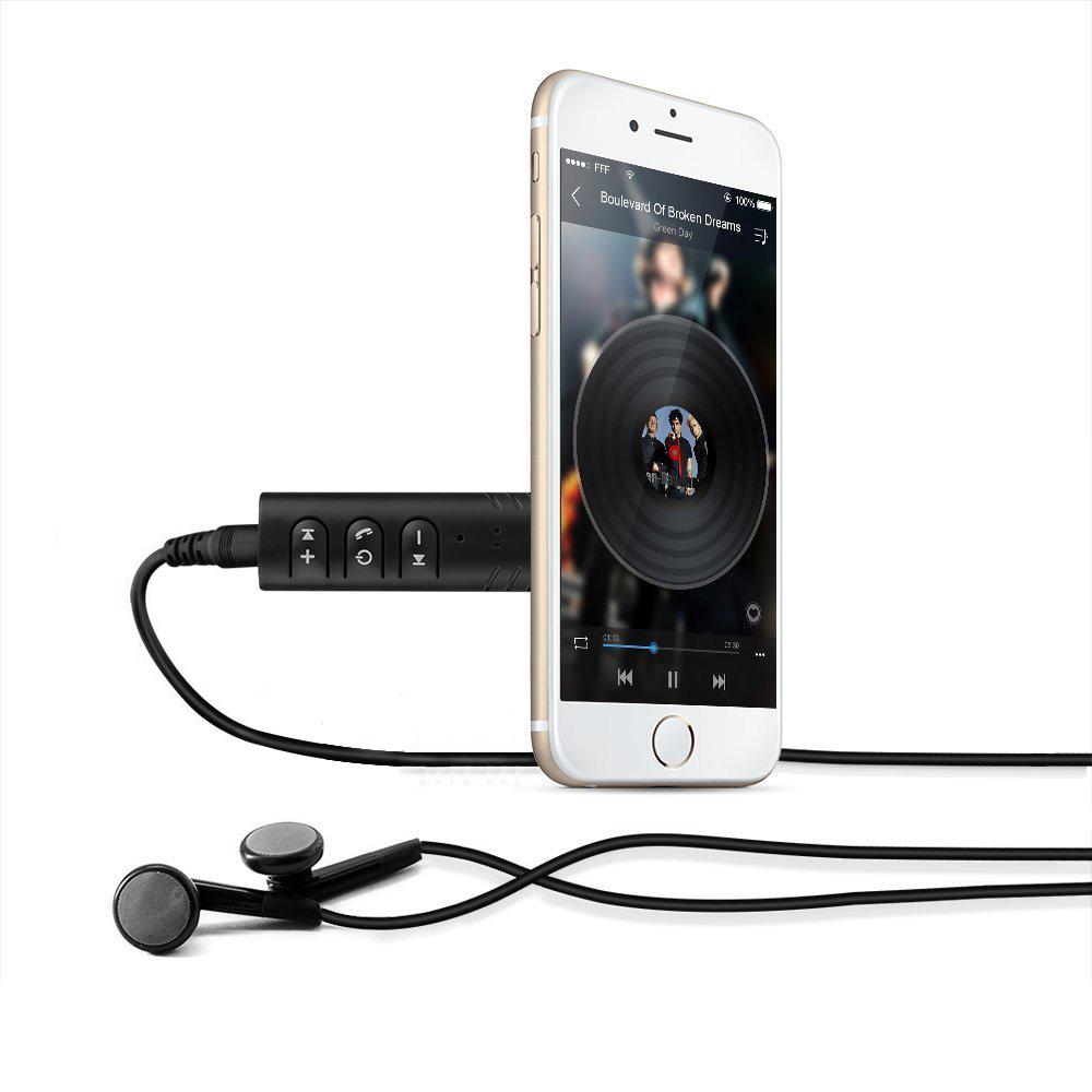 ... EASYIDEA Wireless Bluetooth Audio Receiver Adapter 3.5mm - YJ-02 - Black - 4 ...