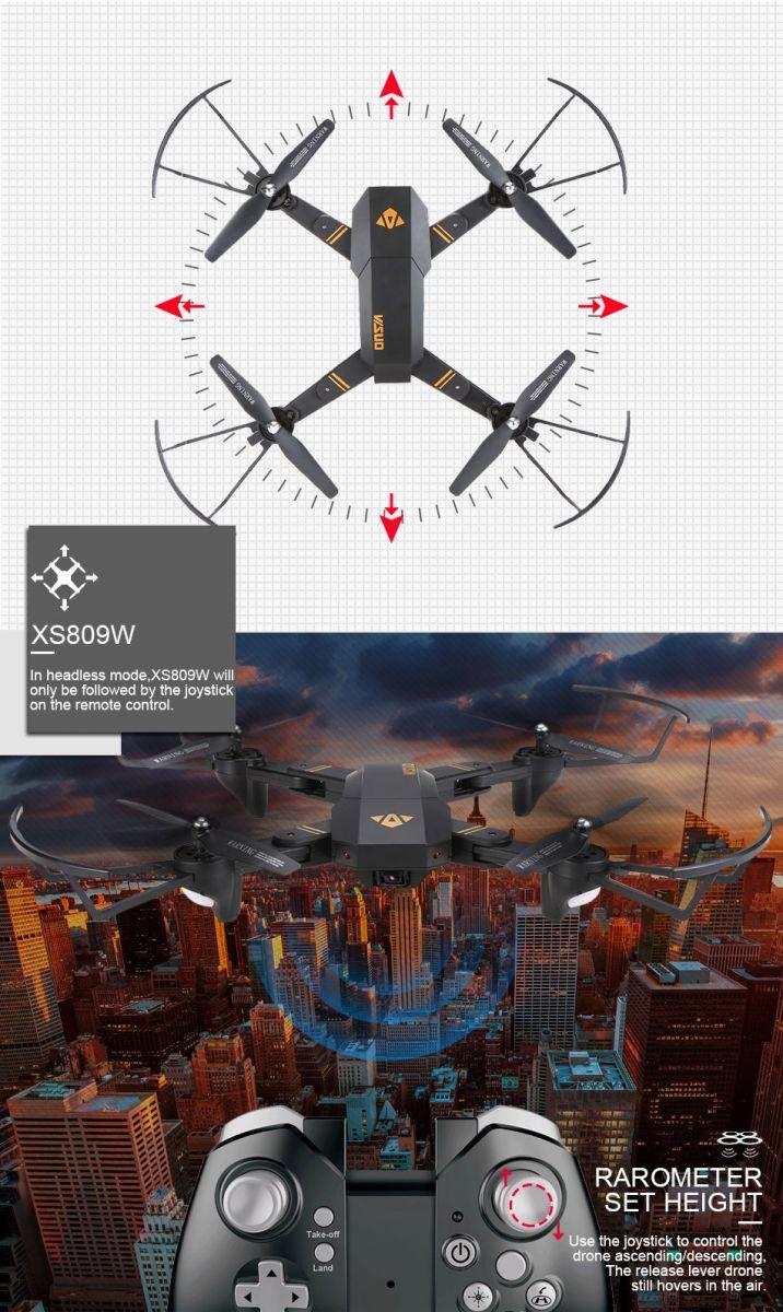 Visuo Quadcopter Drone Wifi Fpv With Vga Camera Xs809h W Jjrc H12w Dengan Kamera 2mp 720p Red Ini Memiliki Mode Headless Dimana Dapat Digerakkan Kearah Manapun Sesuai Kemauan Anda
