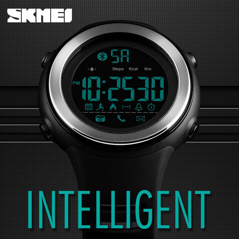 ... SKMEI Jam Tangan Olahraga Smartwatch Bluetooth 1396 Blue 8